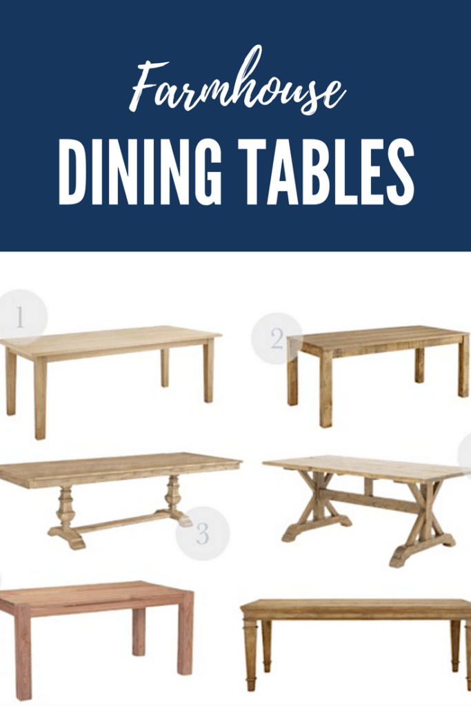 Farmhouse style dining table round-up.