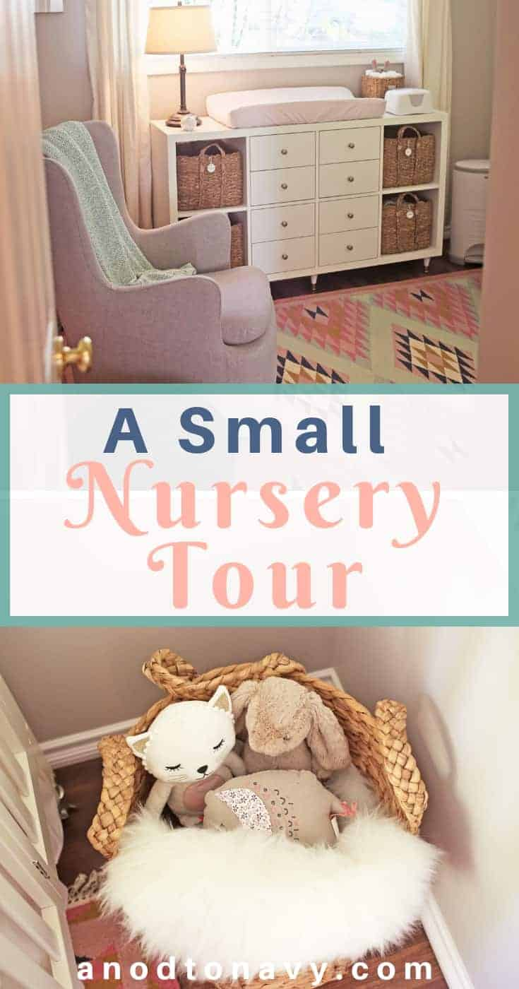 small nursery with colorful rug