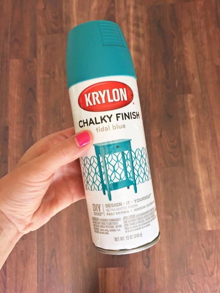 krylon chalky finish spray paint in tidal blue
