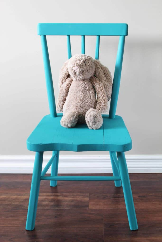 goodwill child's chair makeover