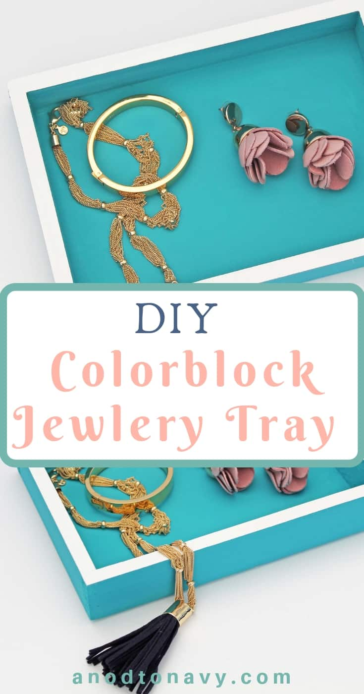 color block jewelry tray with bauble bar earrings