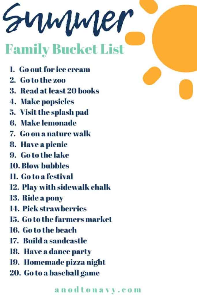 Summer is officially here which means more family time! I though I would share our summer family bucket list in case you're in need of some ideas:) #summertimeactivities #summerbucketlist #kidsactivities #familyactivities #kidideas #familyideas