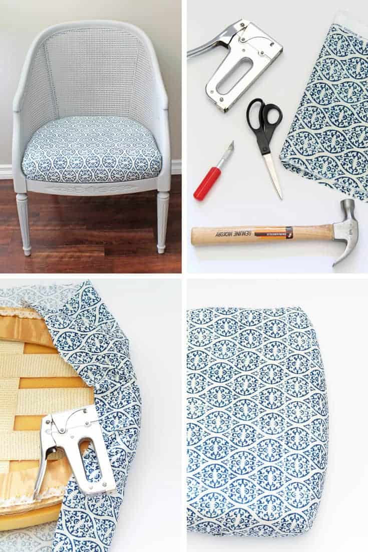 How To Reupholster A Chair Cushion A Nod To Navy