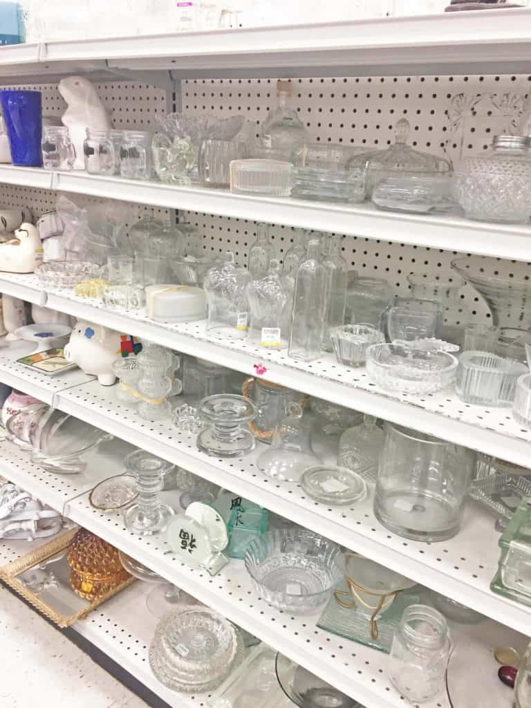 glassware at goodwill