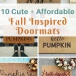 10 Cute + Affordable Fall Inspired Doormats