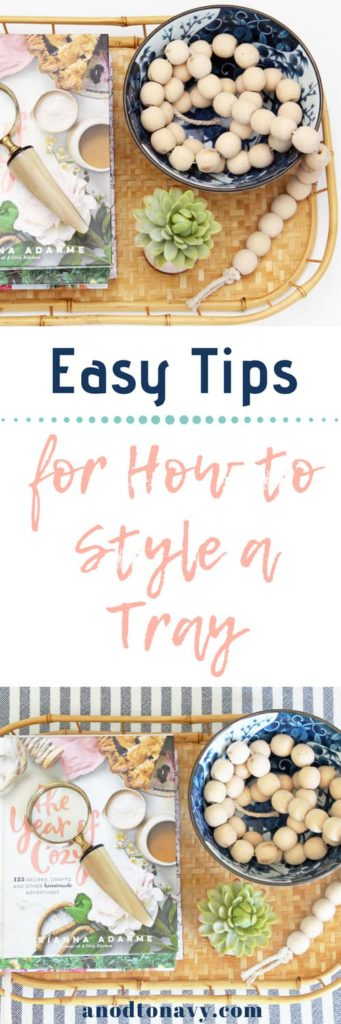 how to style a decorative tray