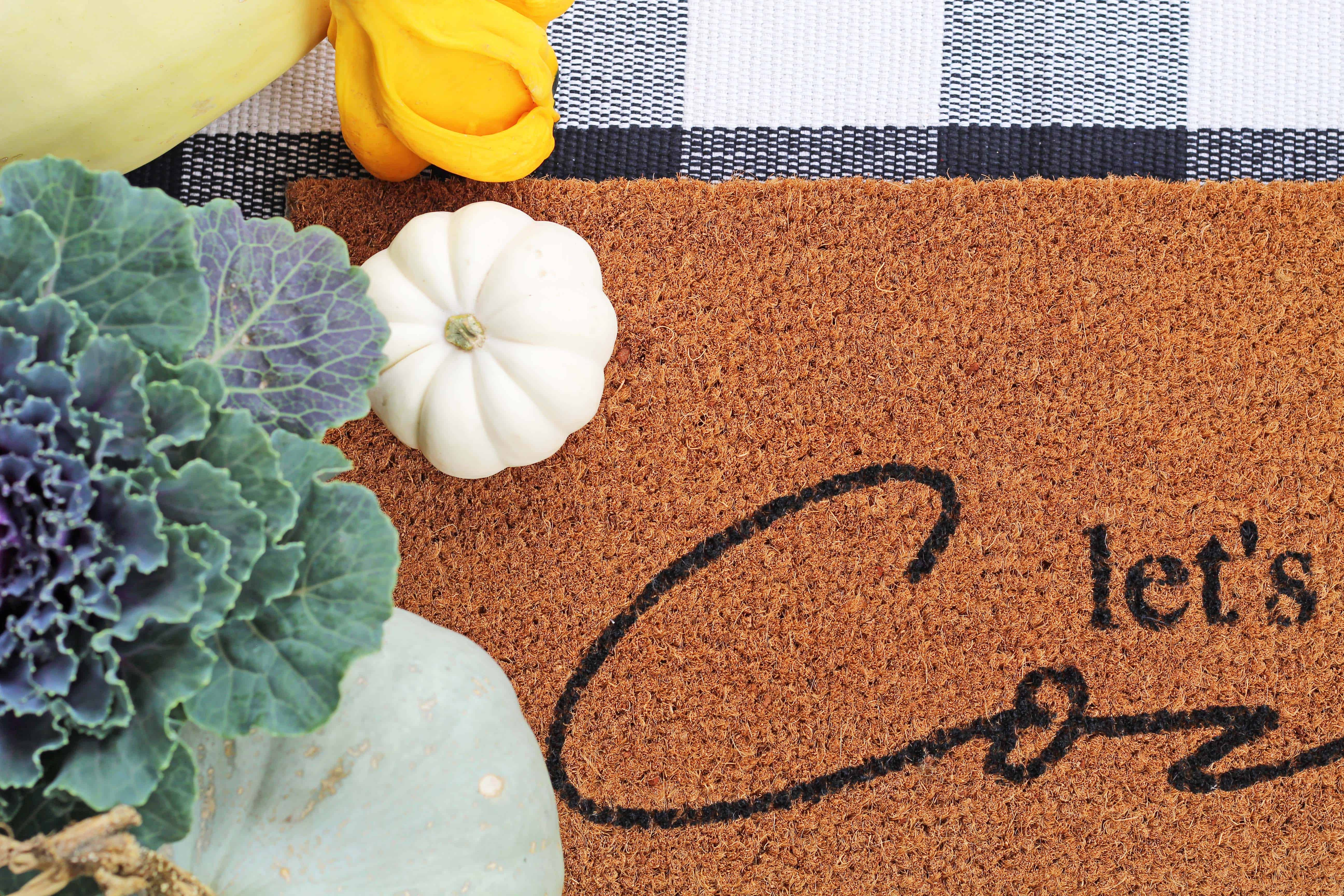 How to make your own stenciled doormat