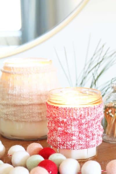 DIY Candle Sweater Cozy