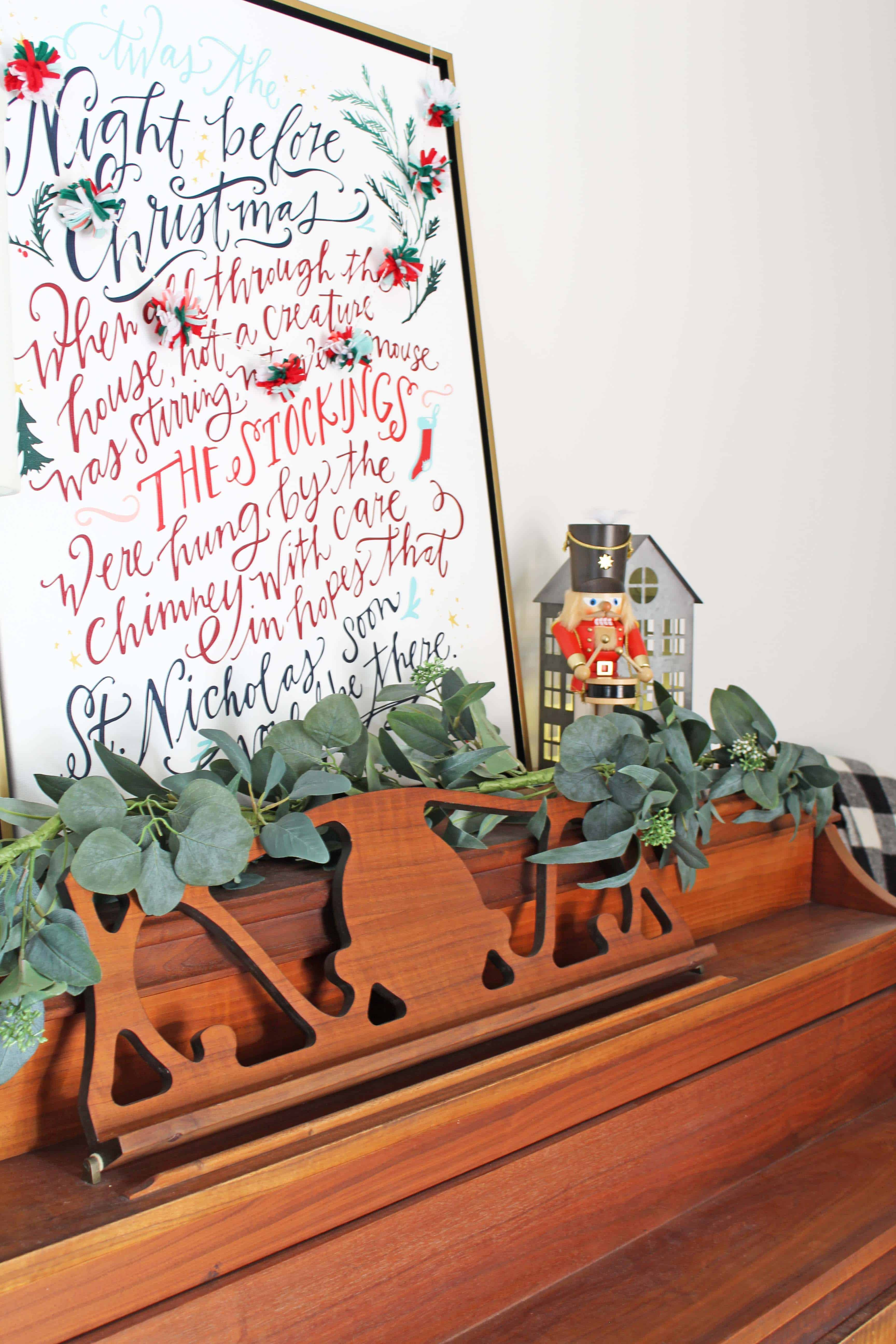 christmas piano with lindsay letters art