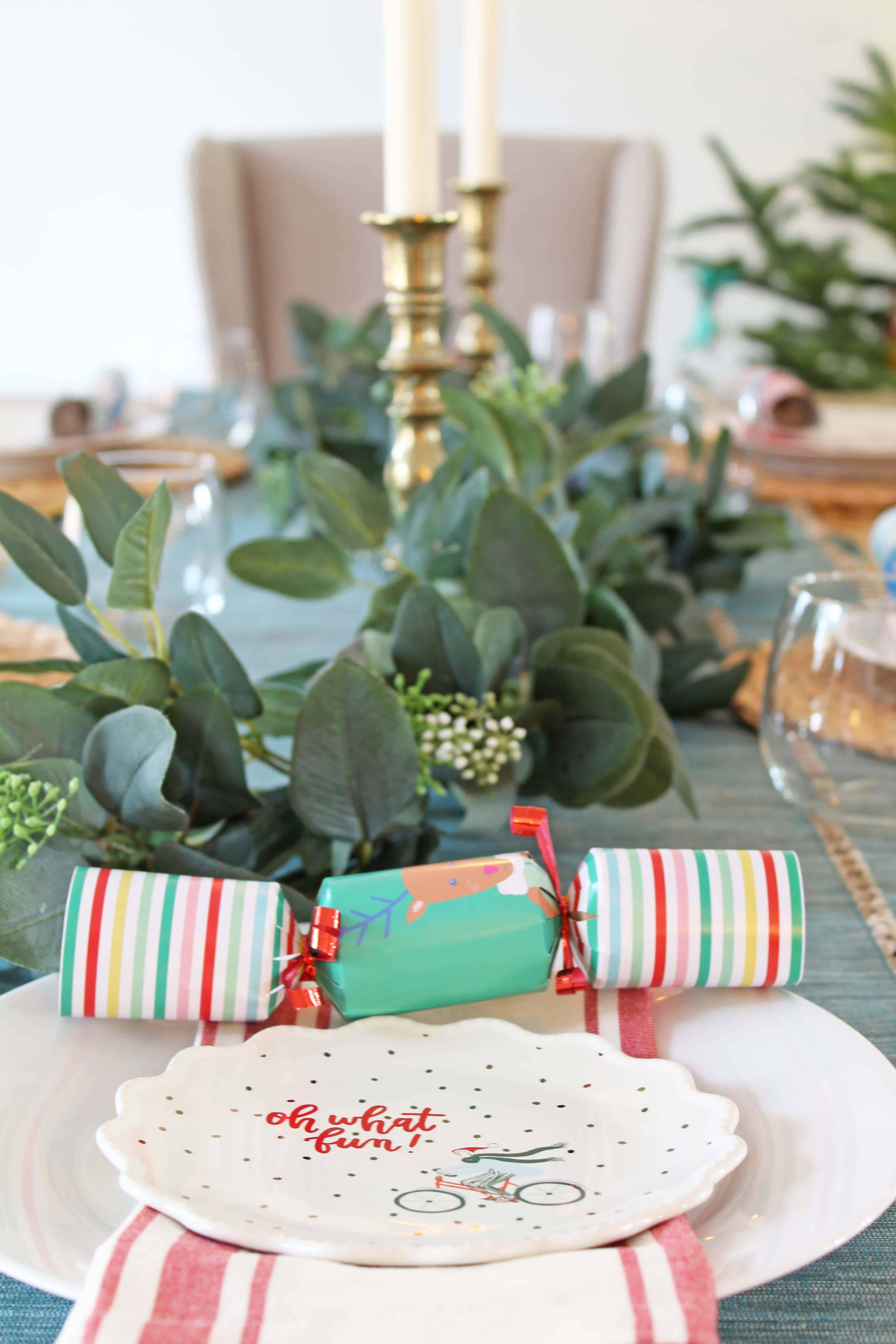 colorful christmas dining table