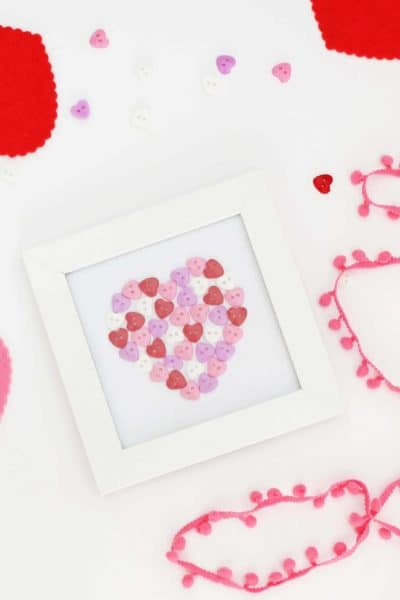 Valentine's Day Button Heart Art