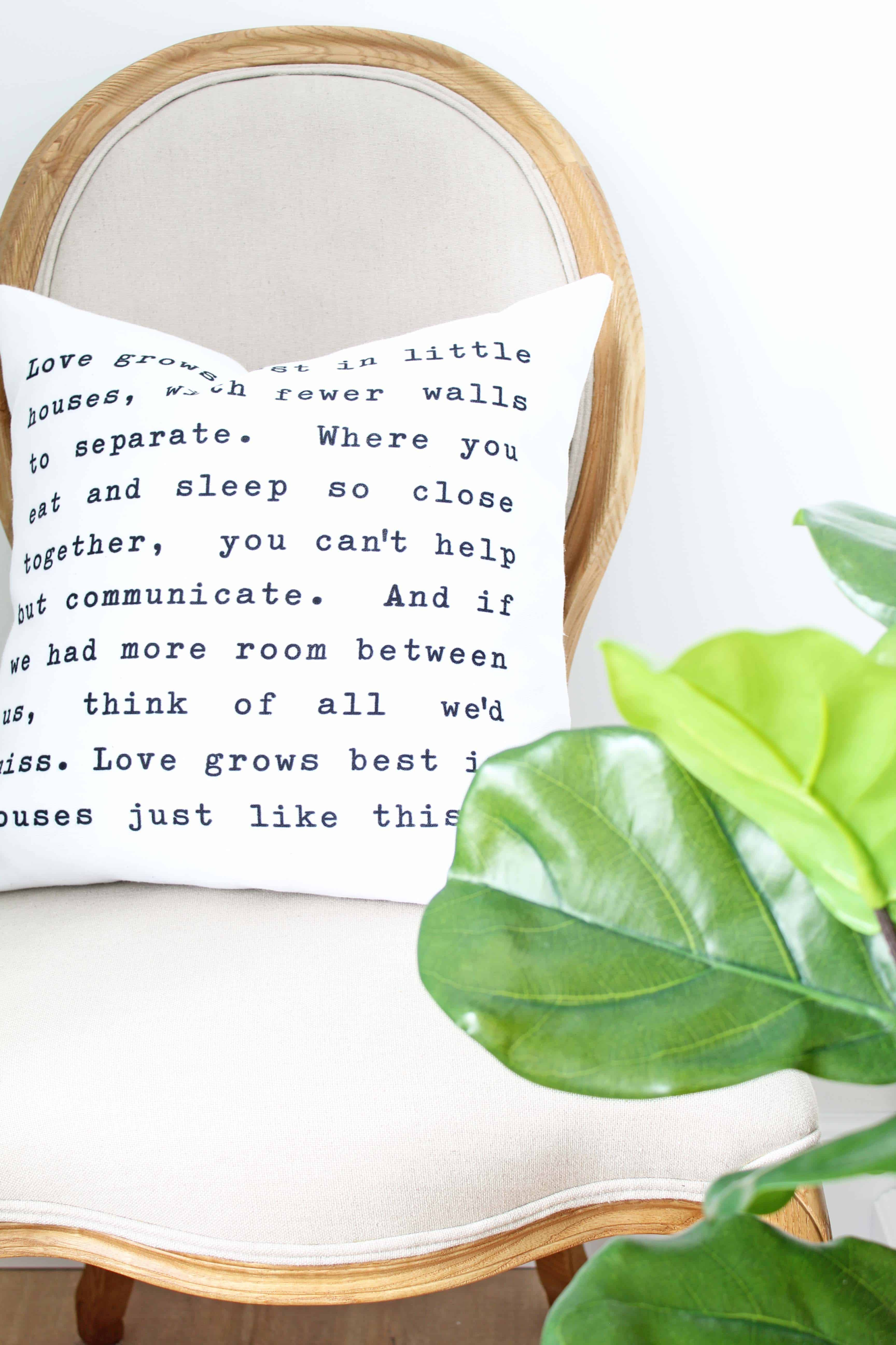 love grows best in little houses pillow with fiddle leaf fig