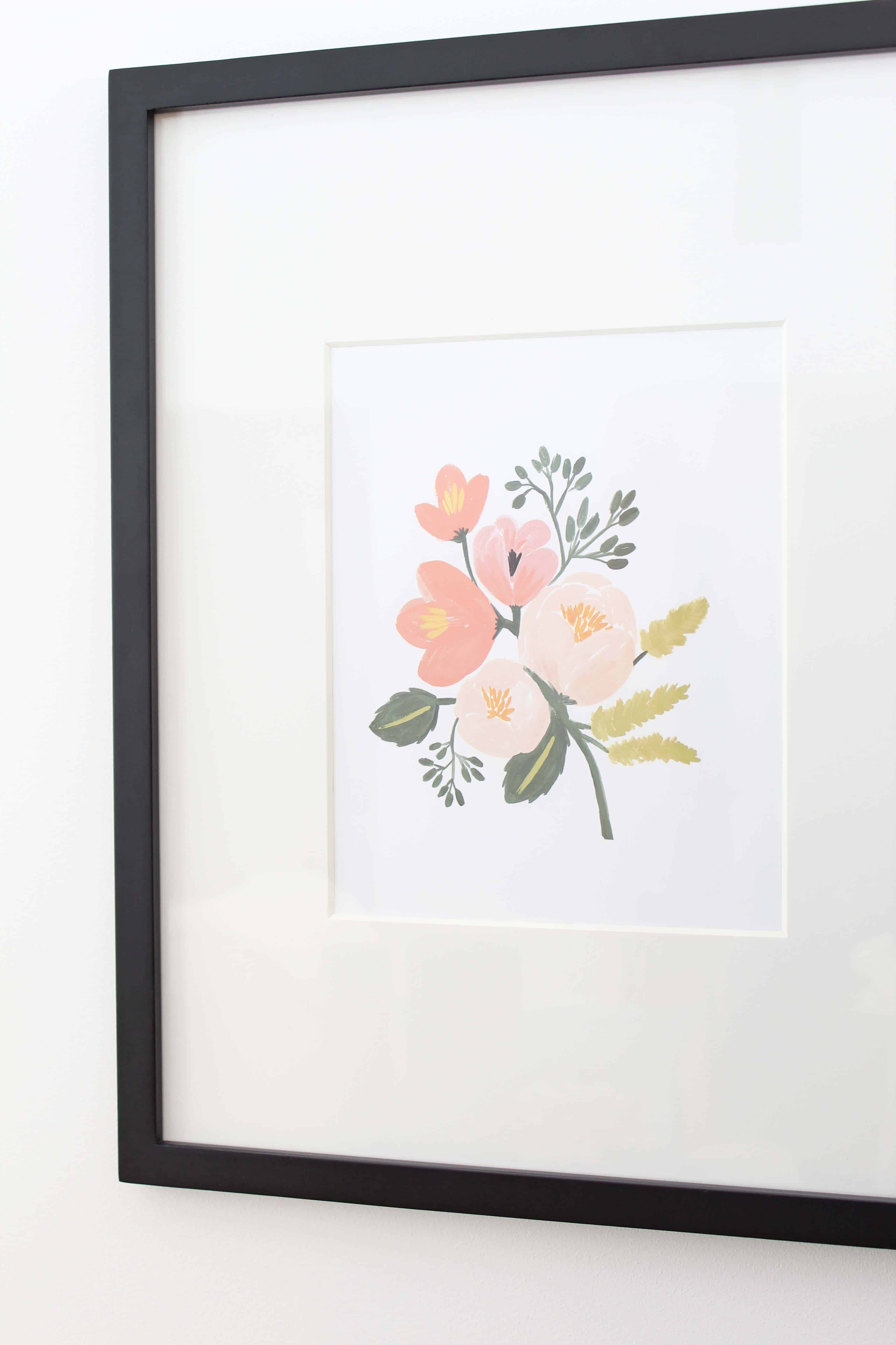 rifle paper co pink roses print