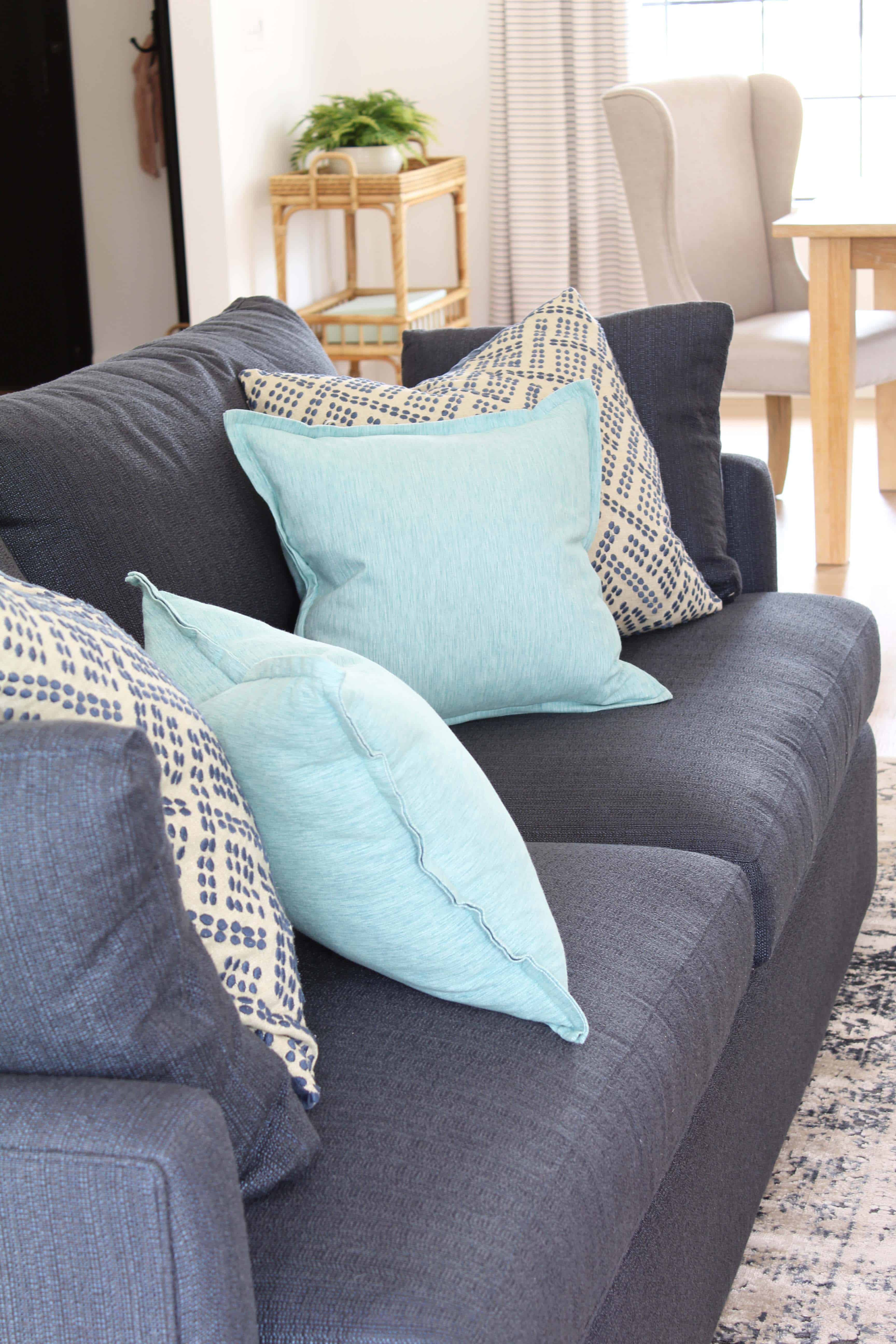 Our Crate and Barrel Lounge II Sofa Review | A Nod to Navy
