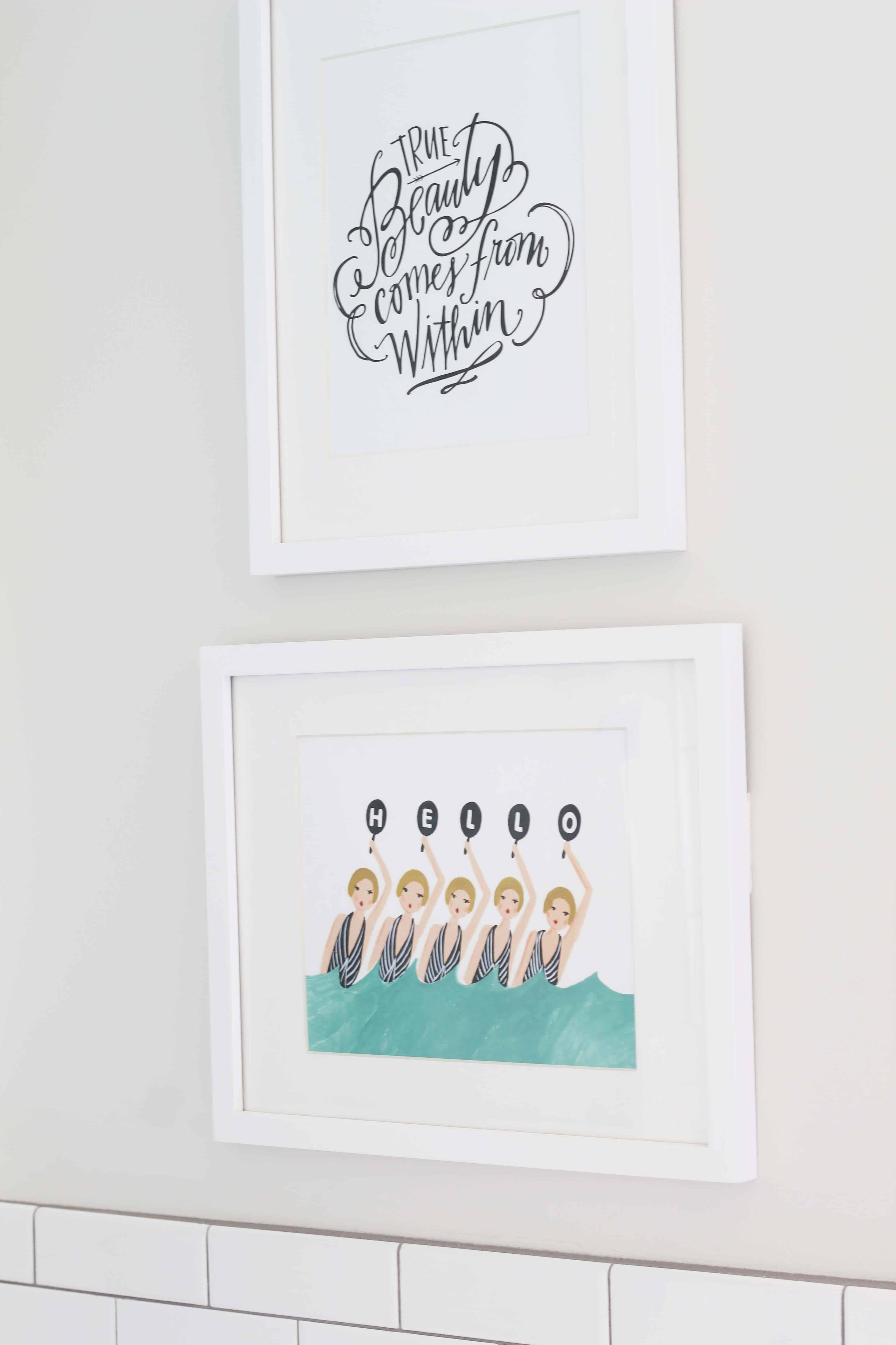 lindsay letters word art, rifle paper co synchronized swimmers print