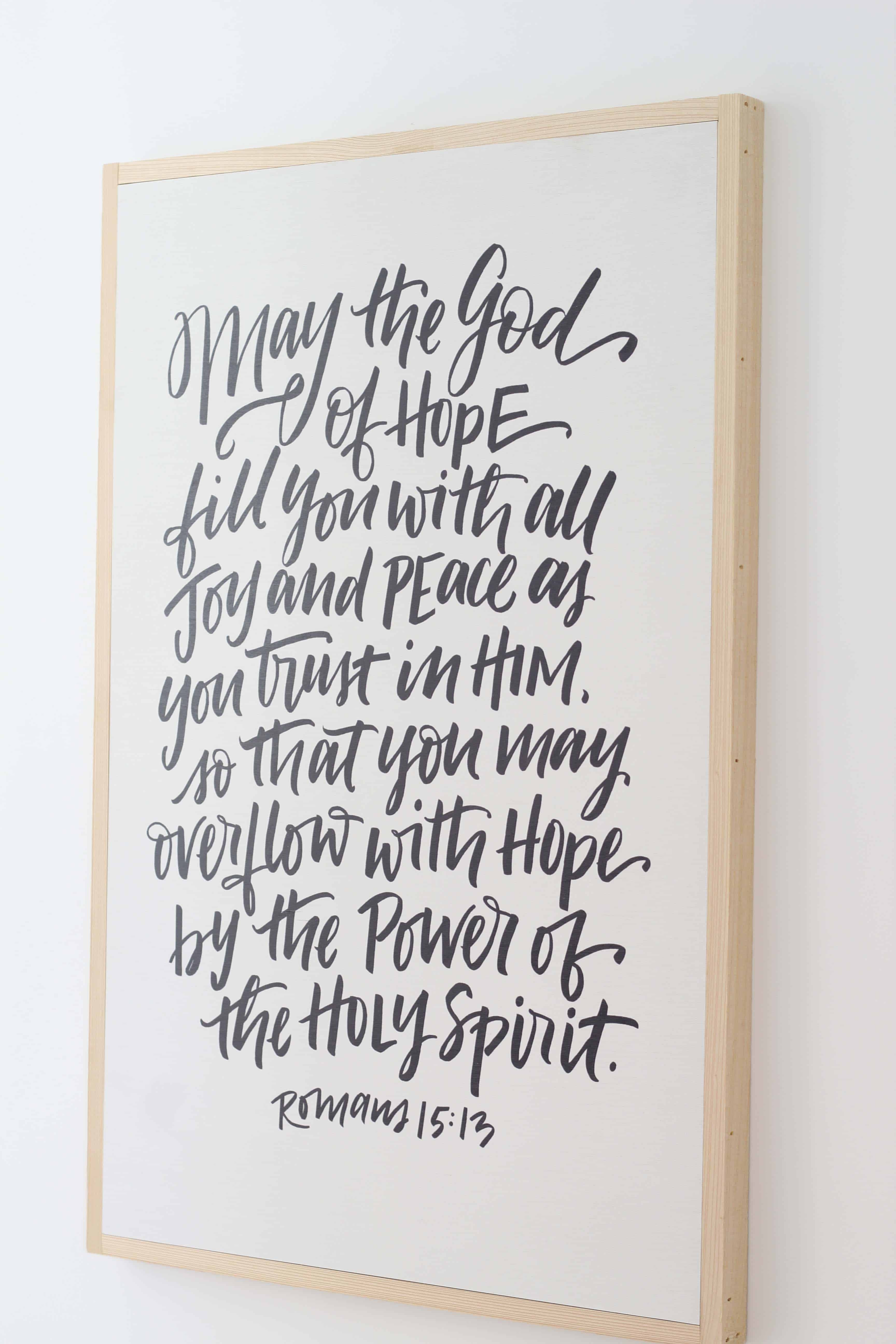 farmhouse scripture lettered wall art