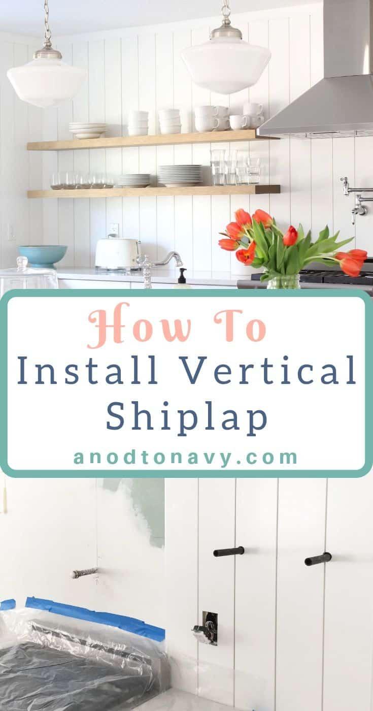 vertical shiplap kitchen backsplash