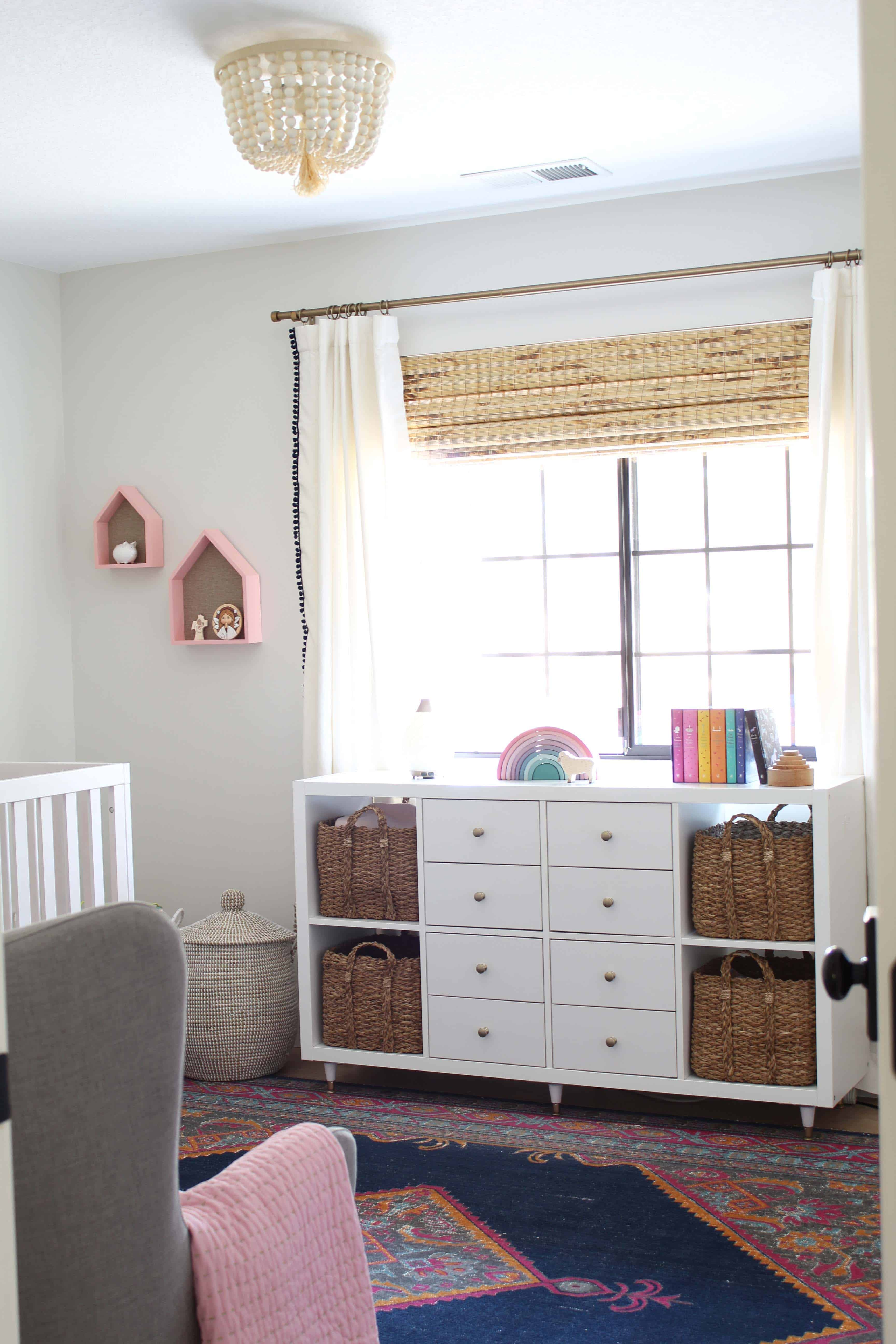 pottery barn kids dahlia flush mount, lowes woven wood blinds, ikea kallax changing table hack, puffin classic book set