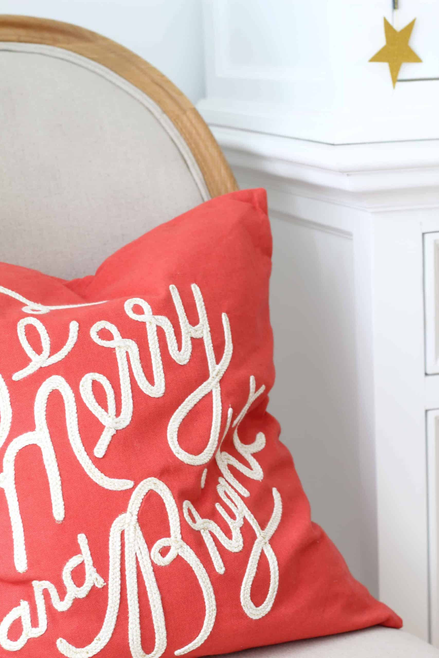 rifle paper company merry and bright christmas pillow