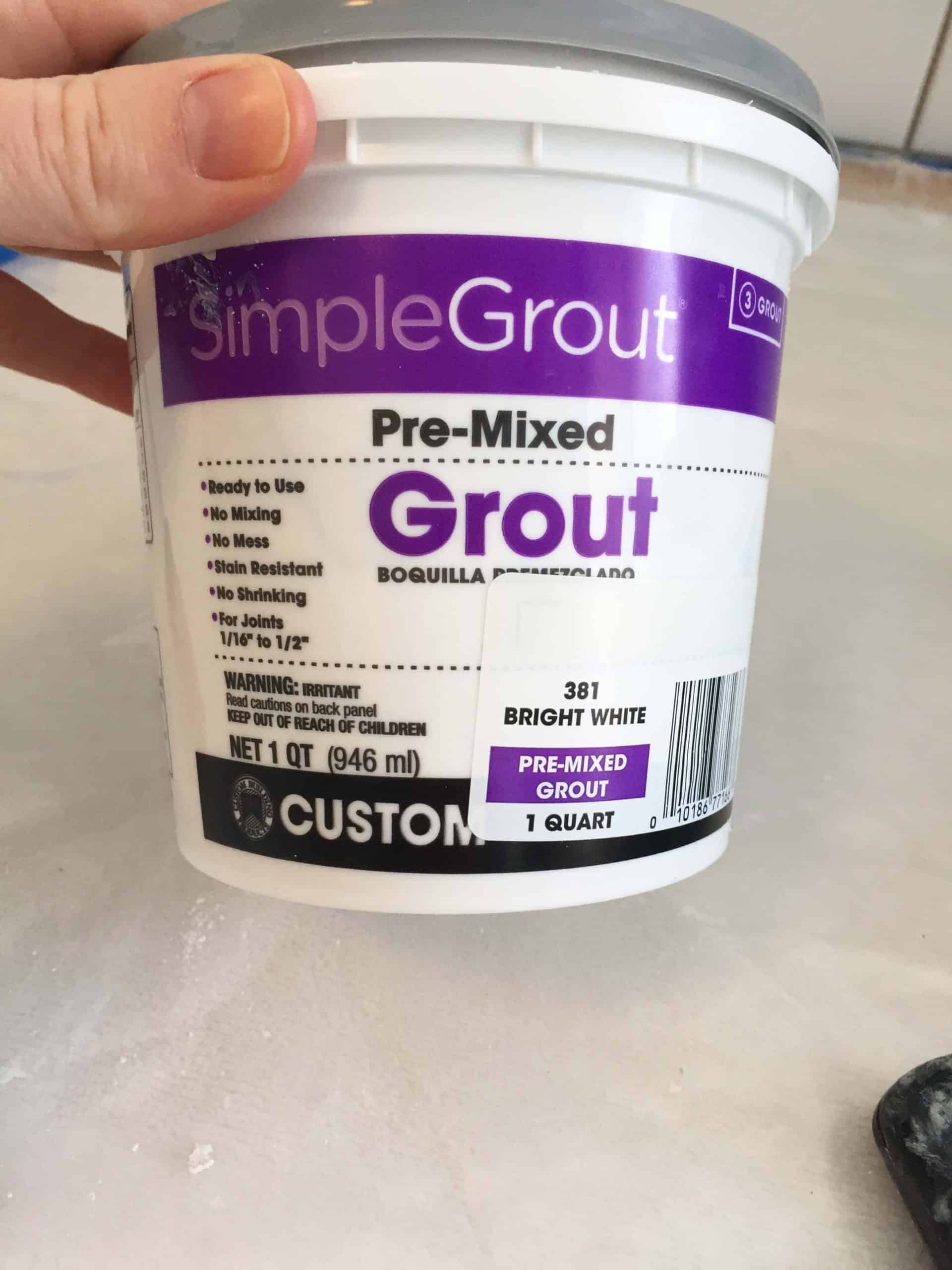 simple grout pre-mixed bright white grout