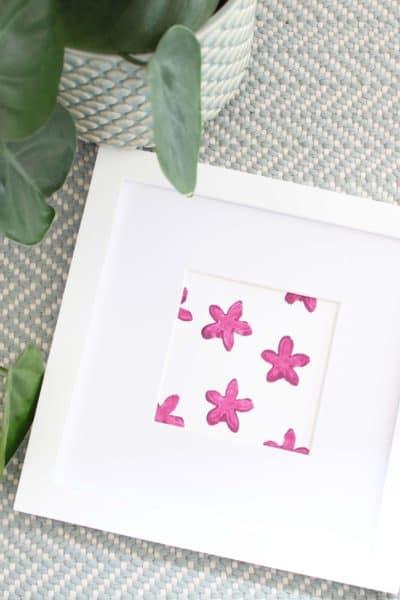 DIY Floral Block Print Art