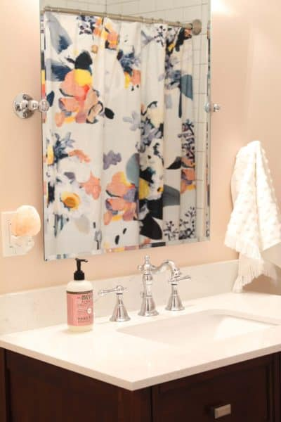 Whimsical Pink Guest Bathroom Reveal