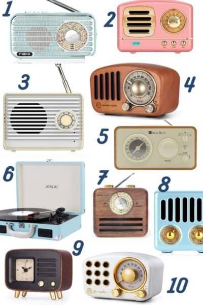 Cute Vintage Bluetooth Speakers For Under $50