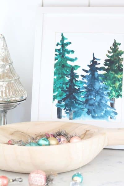 Free Printable Winter Forest Art