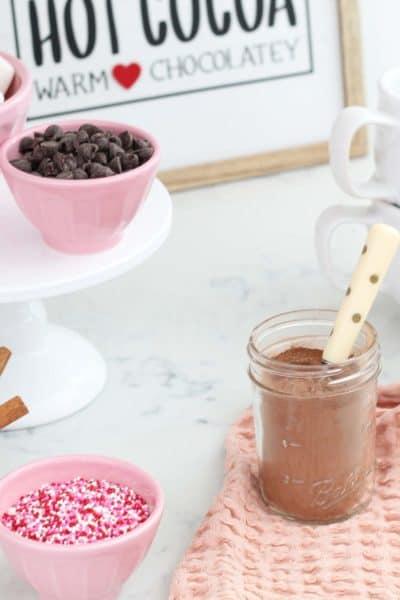A Simple & Sweet Hot Chocolate Bar