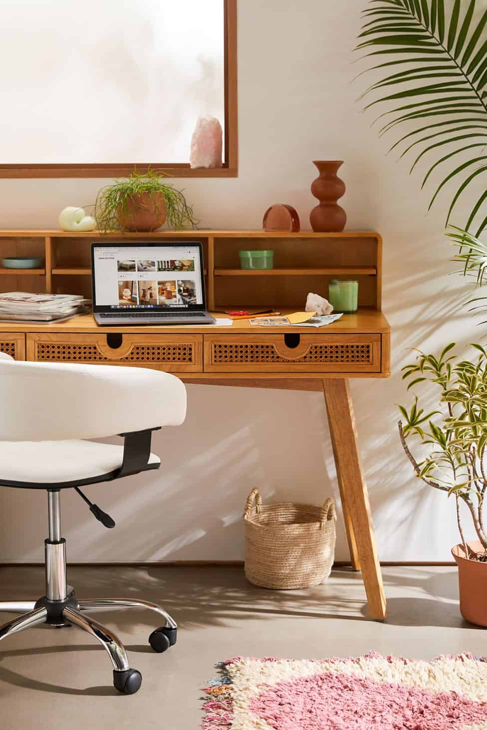 urban outfitters midcentury modern cane desk