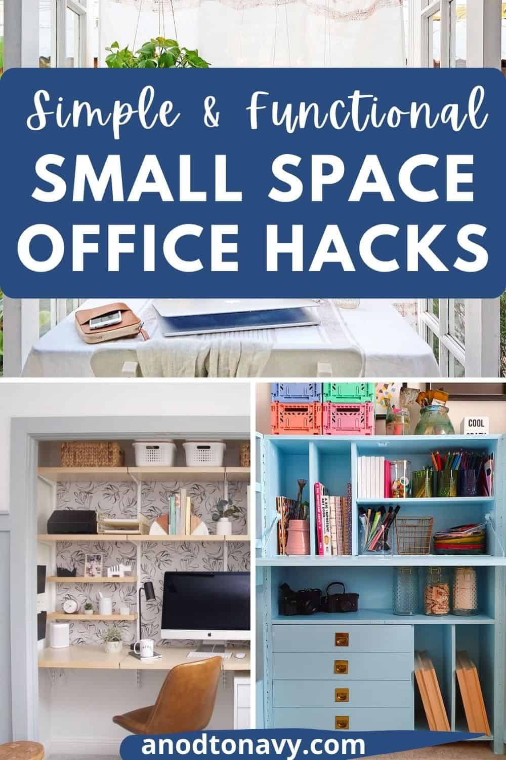 small home office ideas and hacks, office in closet, office hutch