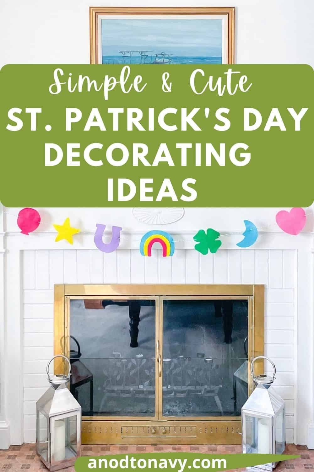 lucky charms garland for st. patrick's day