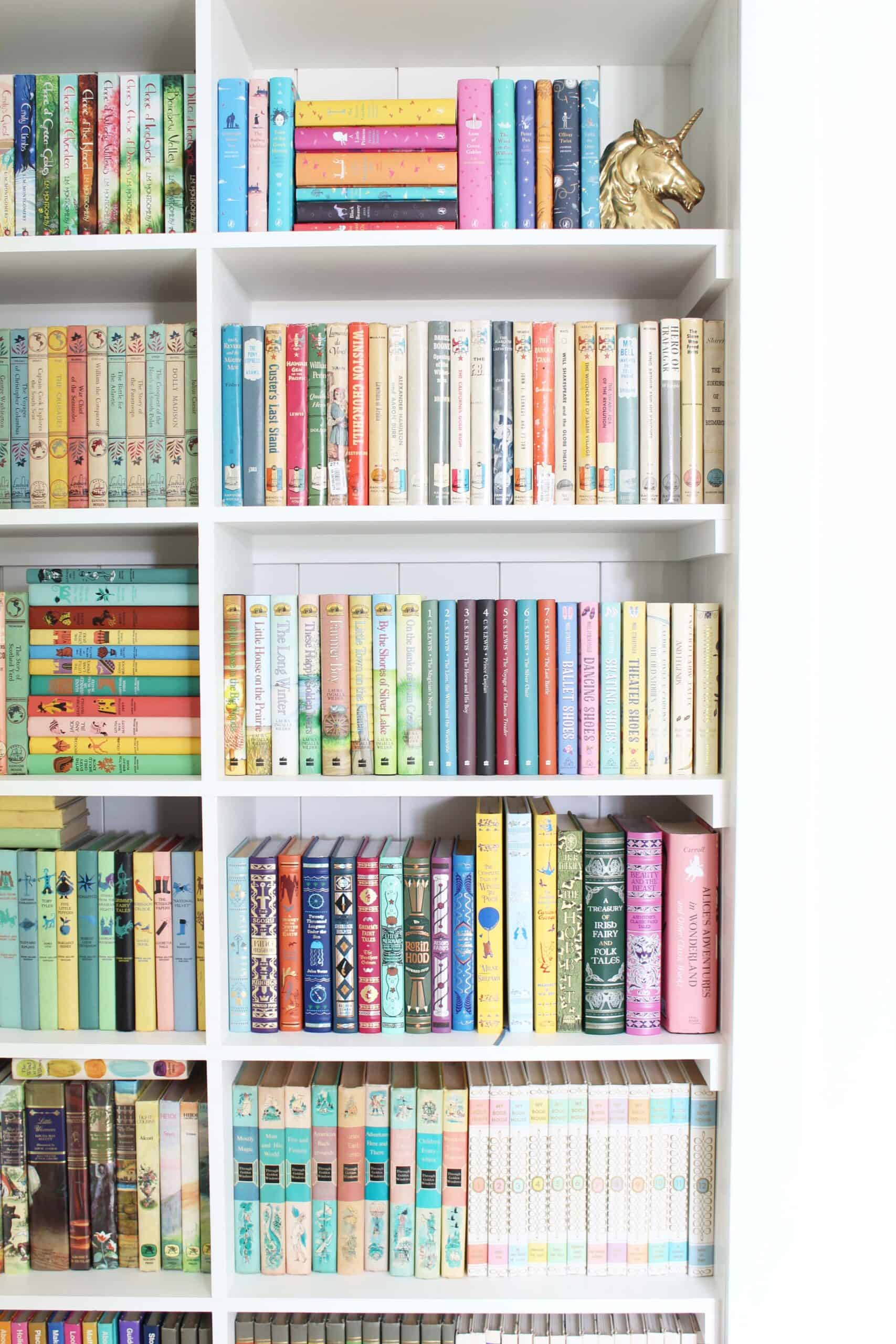 closet turned into a bookshelf, barnes and noble classic editions, through golden windows book set, little house on the prairie book set