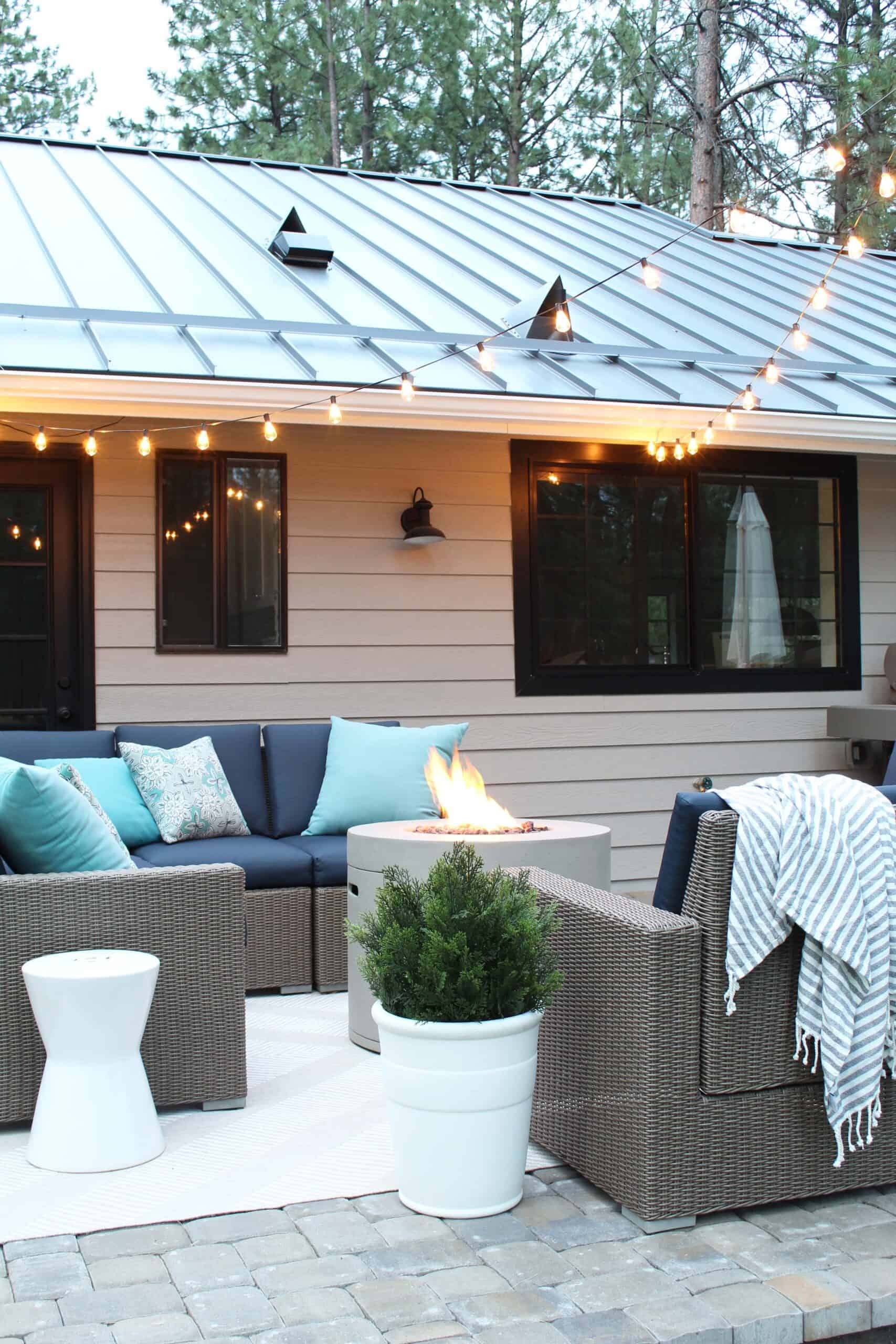 how to add string lights to your deck