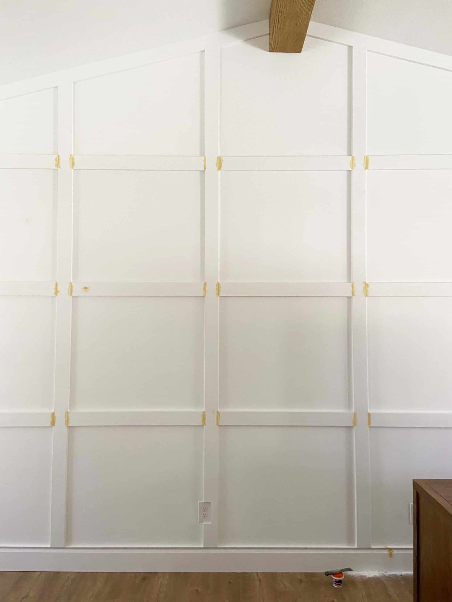 how to install box trim moulding on a wall